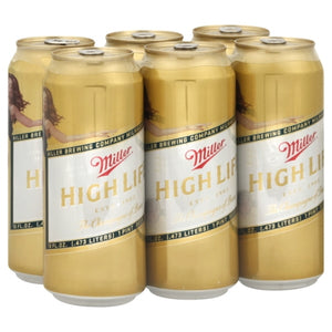 MILLER HIGH LIFE 6PK 16OZ CANS