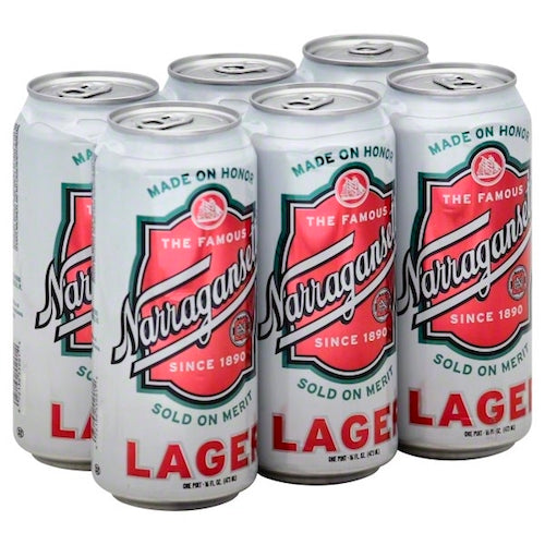 NARRAGANSETT LAGER 6 Pack 16OZ Cans