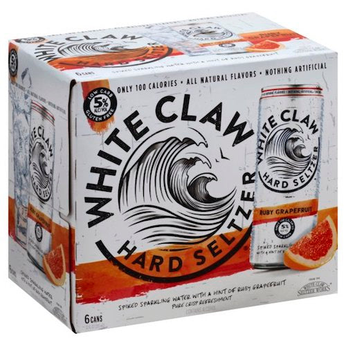 WHITE CLAW RUBY GRAPEFRUIT SELTZER 6 Pack Cans
