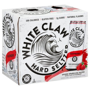 WHITE CLAW RASPBERRY HARD SELTZER 6 Pack Cans