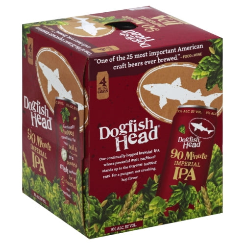 DOGFISH HEAD 90 MINUTE IPA 4PK CANS