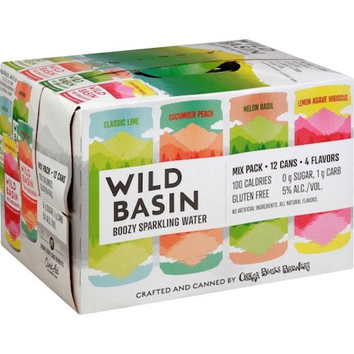 OSKAR BLUES WILD BASIN BOOZY SPARKLING WATER 12 Pack Cans