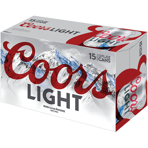 COORS LIGHT 15PK Cans