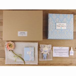 Photo Album Christening set - Our Happiness | Gift for Newborn Child