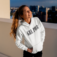 Load image into Gallery viewer, GRL PWR HOODIED SWEATSHIRT WHITE WOMAN