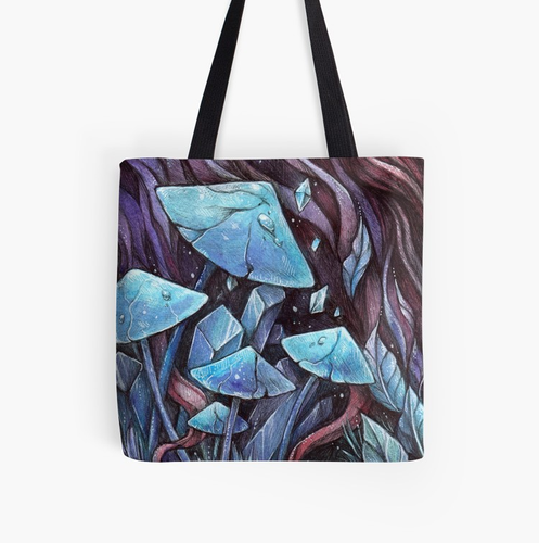 Crystal Fungi : Tote Bag