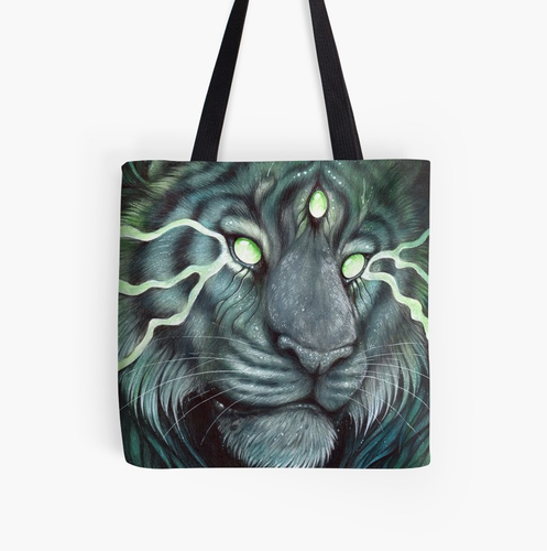Three Eyed Tiger : Tote Bag