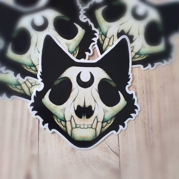 "Outdoor-Sticker ""Witch Cat"""