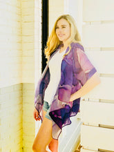 The Pretty in Purple Tie Front Kimono