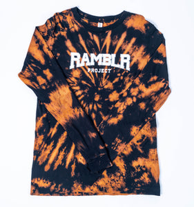Black Bleached Dyed Long Sleeve Shirt