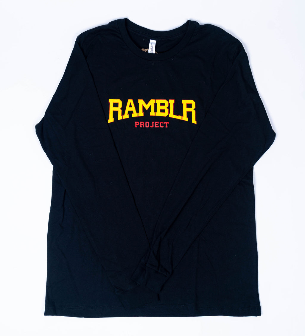 Collegiate Black Long Sleeved T-Shirt