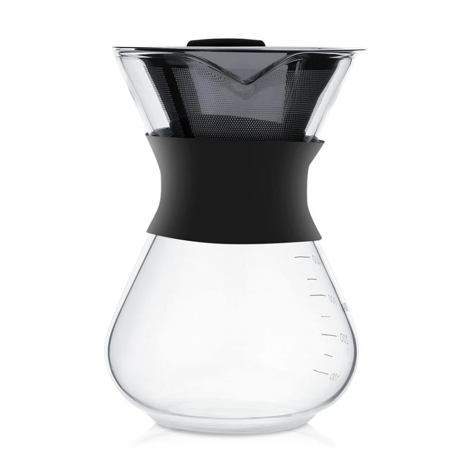 Glass Coffee Maker 400ml Pot Stainless Steel Filter