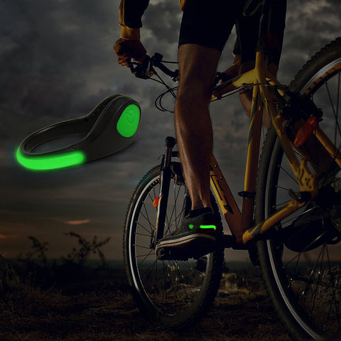 Safety Light for Runners/Bikers Joggers Walker Rechargeable LED Shoe Clip
