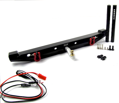 Traxxas TRX4, TRX-4 Rear Metal Bumper w/ Tow Hitch LEDs.