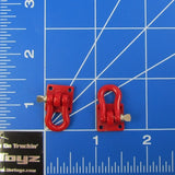 1/10 Scale Rock Crawler Red Metal Tow Shackles