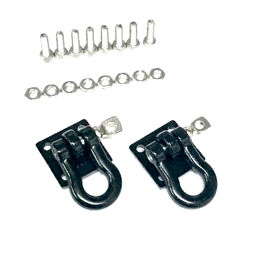 1/10 Scale Rock Crawler Black Tow Shackles