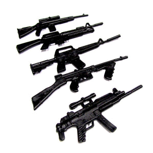 RC Scale Rock Crawler Scale Accessories Plastic Miniature Machine Gun Set