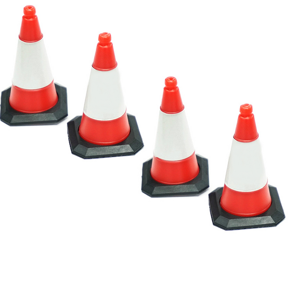 1/10 Scale Crawler Drift Traffic Reflective Cones Accessory 4pcs