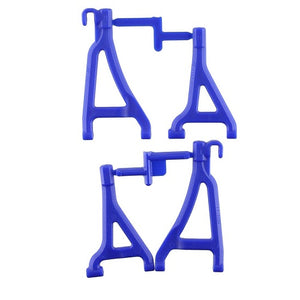 1/16 Traxxas Mini Revo Blue Front Upper & Lower A-Arm Set