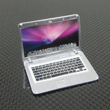 1/10 Rock Crawler, Drift Scale Garage Silver Miniature Laptop Computer