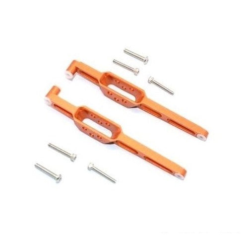 1/18 Axial Yeti Jr Orange Aluminum Rear Lower Chassis Link Parts