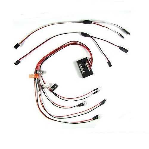 RC Ultra Bright LED Headlight Tail Light Brake Turn Signal System
