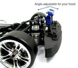 1/10 Drift, On Road RC Car Black Aluminum Stealth Body Mount No Clip