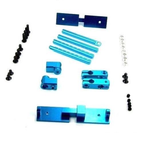 1/10 Drift On Road RC Car Light Blue Aluminum Stealth Body Mount No Clip