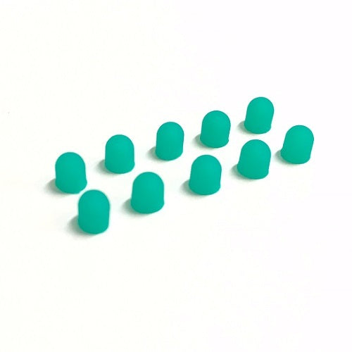 3mm Green Silicon LED Light Bulb Cap Cover (10pcs)