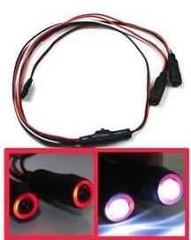 1/10 1/16 1/18 RC Car Angel Halo Eyes Red & White LED Lights