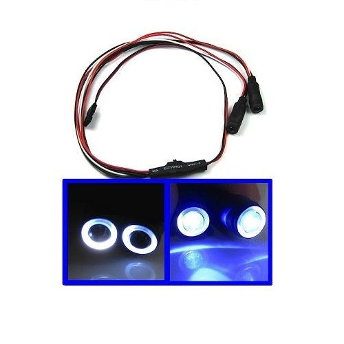 1/10 1/16 1/18 RC Car Blue & White Angel Halo Eyes LED Lights