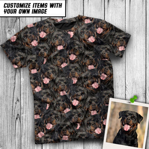 CUTE DOG FACES ALL OVER TSHIRT - Pawature
