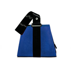 0718 Velvet Evening Bag | Diode Blue
