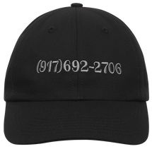 Load image into Gallery viewer, CALL ME 917 DIALTONE HAT BLACK
