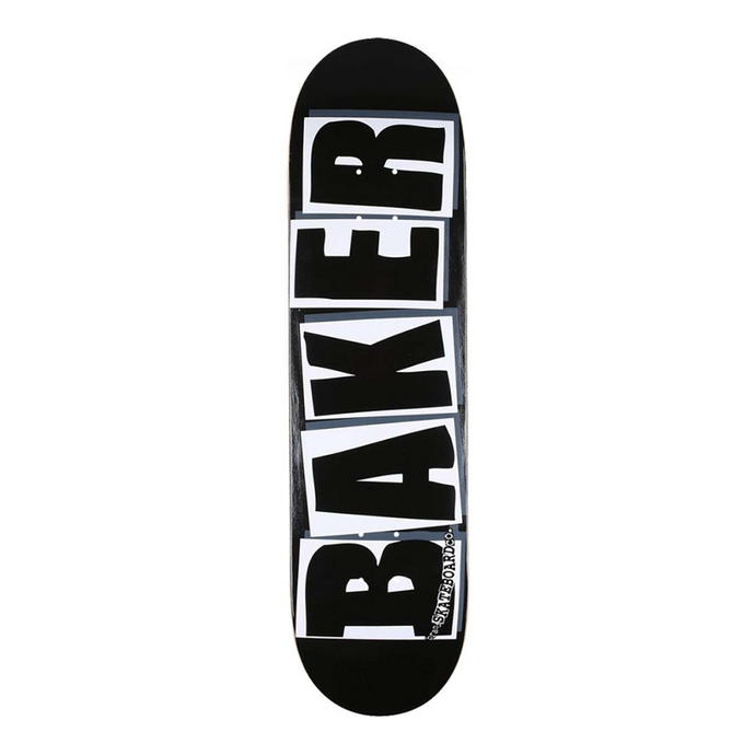 BAKER SKATEBOARDS BRAND LOGO BLACK/ WHITE SKATEBOARD DECK 8.0