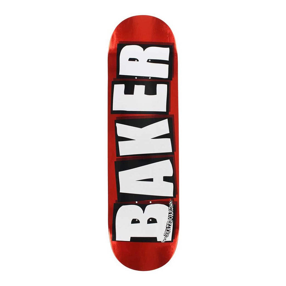 BAKER SKATEBOARDS BRAND LOGO RED FOIL SKATEBOARD DECK 8.25