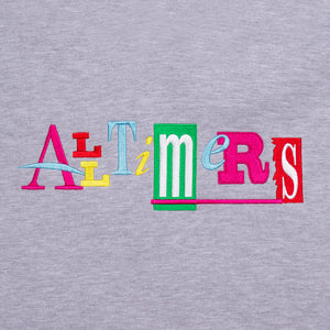 ALLTIMERS SIN GOOD EMBROIDERED HOODY HEATHER GREY