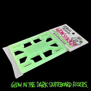 HEROIN SKATEBOARDS GLOW IN THE DARK 1/8 SKATEBOARD RISER PADS
