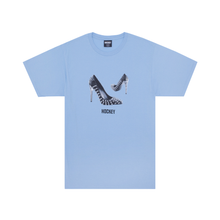 Load image into Gallery viewer, HOCKEY SPIKED HEEL TEE LIGHT BLUE