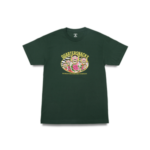 QUARTERSNACKS RUSSIA TEE FOREST GREEN