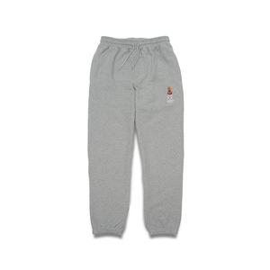 QUARTERSNACKS EMBROIDERED SNACKMAN SWEATPANTS HEATHER