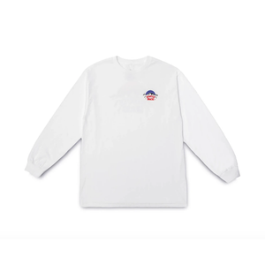 QUARTERSNACKS MOUNTAIN LONGSLEEVE TEE WHITE