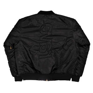 RAVE SKATEBOARDS REVERSIBLE FLIGHT JACKET BLACK/ ORANGE