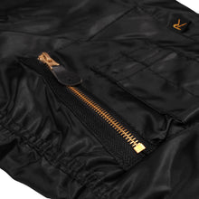Load image into Gallery viewer, RAVE SKATEBOARDS REVERSIBLE FLIGHT JACKET BLACK/ ORANGE