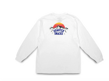 Load image into Gallery viewer, QUARTERSNACKS MOUNTAIN LONGSLEEVE TEE WHITE