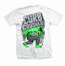 Load image into Gallery viewer, HEROIN SKATEBOARDS CURB CRUSHER KING T-SHIRT WHITE