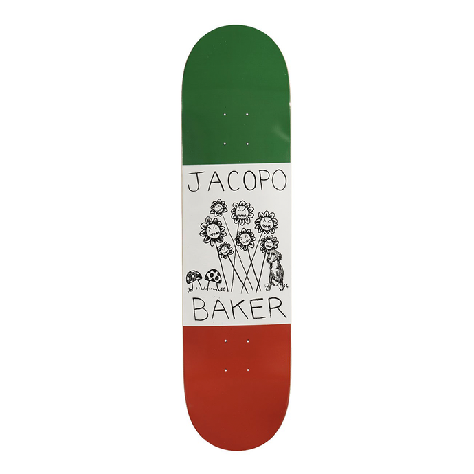 BAKER SKATEBOARDS JACOPO CENTRALE SKATEBOARD DECK 8.0