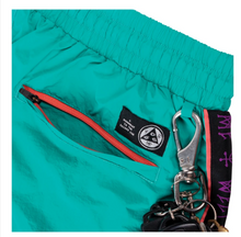 Load image into Gallery viewer, WELCOME SKATEBOARDS ATHLETE WOVEN NYLON WIND PANT TEAL/ BLACK/ PURPLE