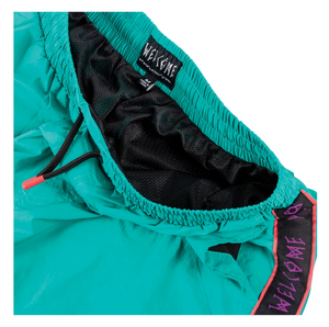 WELCOME SKATEBOARDS ATHLETE WOVEN NYLON WIND PANT TEAL/ BLACK/ PURPLE