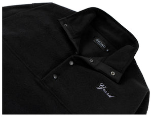 GRAND COLLECTION MICRO FLEECE PULLOVER BLACK